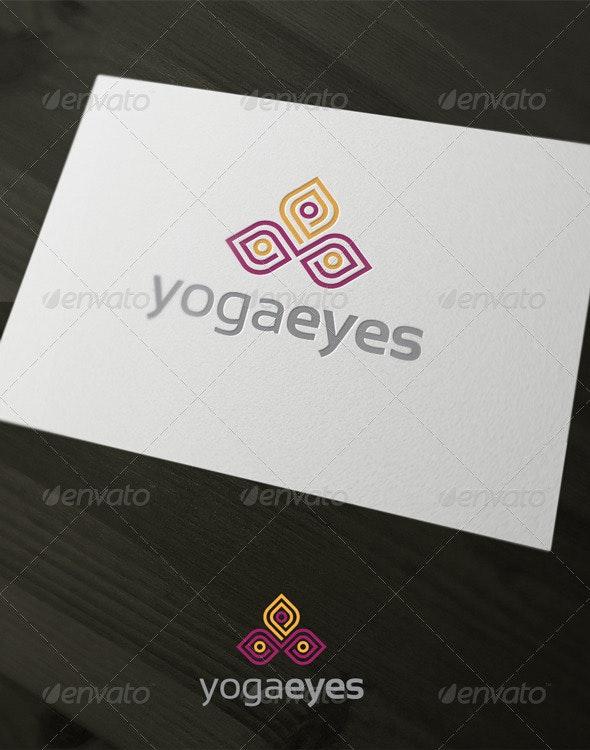Yoga Eyes - Humans Logo Templates
