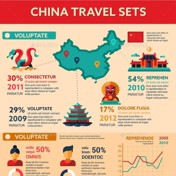 China Travel - Poster, Brochure Cover Template
