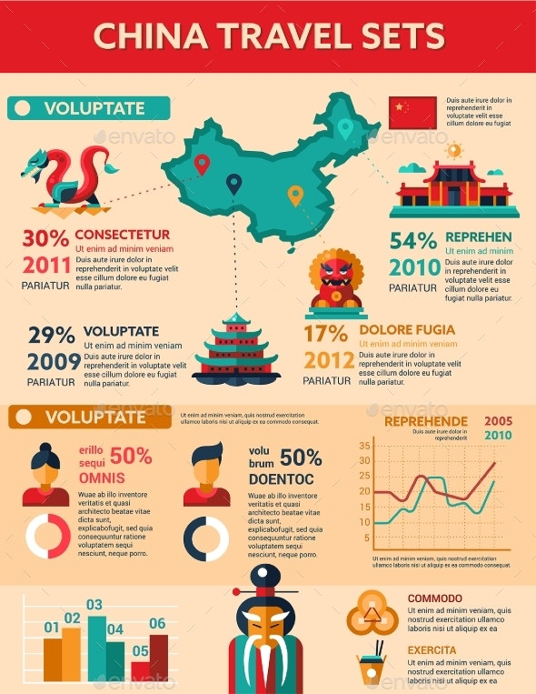 China Travel - Poster, Brochure Cover Template - Travel Conceptual