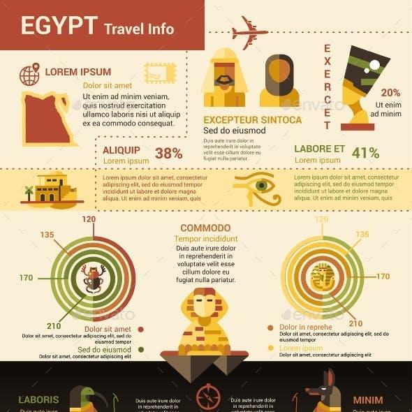 Egypt Travel Info - Poster, Brochure Cover