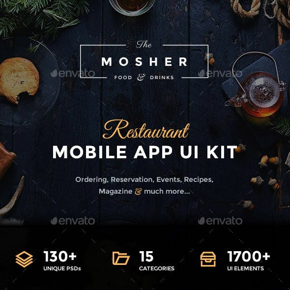 Mosher - Restaurant Mobile App UI Kit