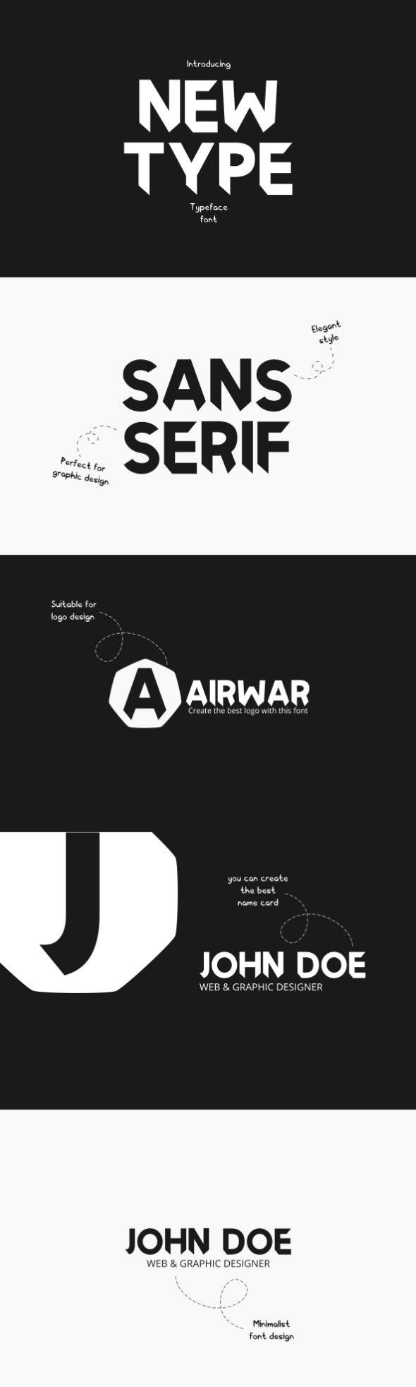 Newtype Typeface Font - Sans-Serif Fonts