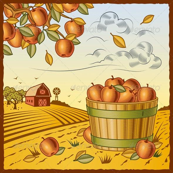 Landscape With Apple Harvest - Landscapes Nature