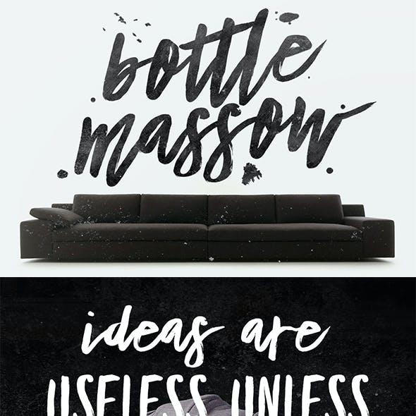 Bottle Massow Typeface