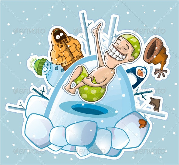 Hardening by diving under the ice - People Characters