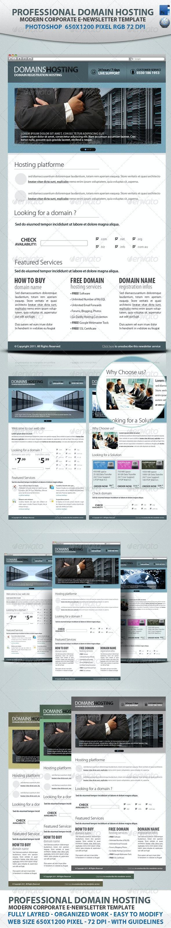 Professional Domain Hosting E-newsletters - E-newsletters Web Elements