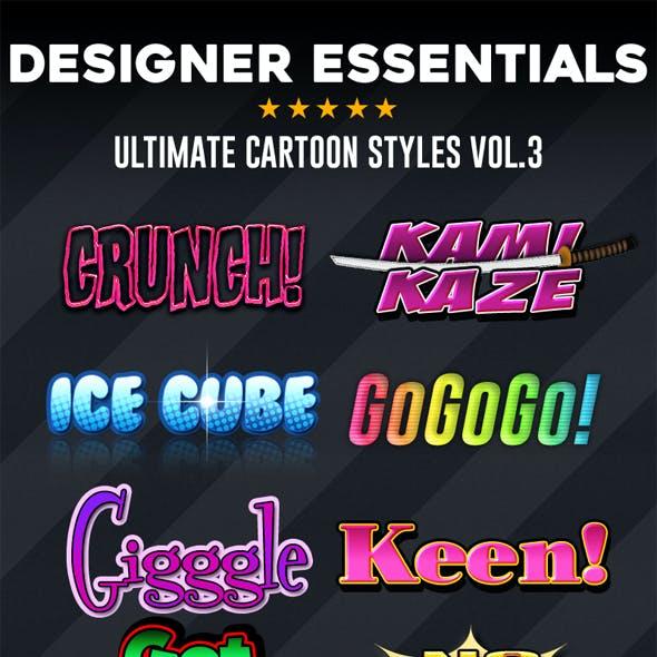 Designer Essentials Ultimate Cartoon Styles Vol.3