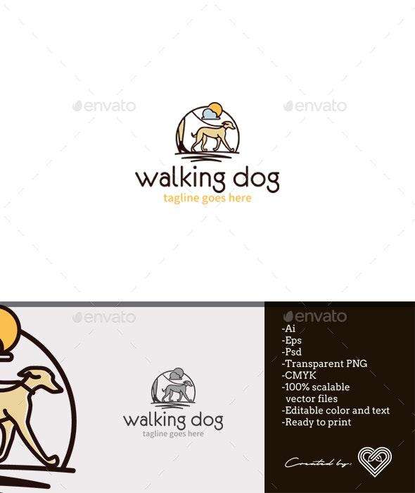Walking Dog - Animals Logo Templates