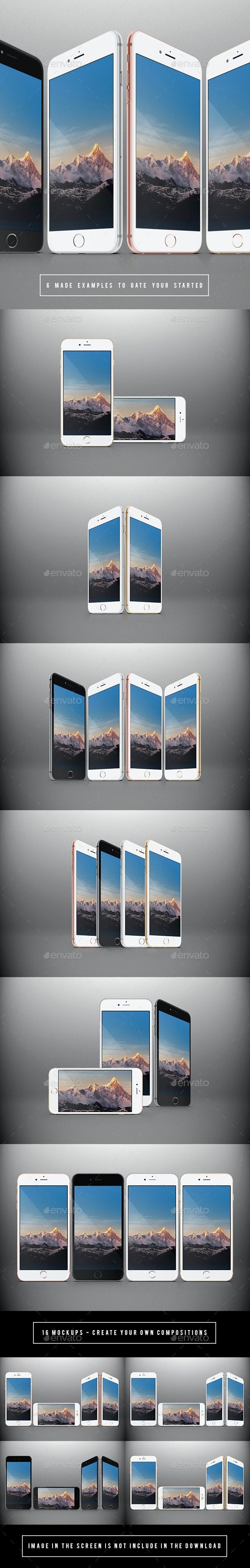 Responsive Phones Mockups Pack - Mobile Displays