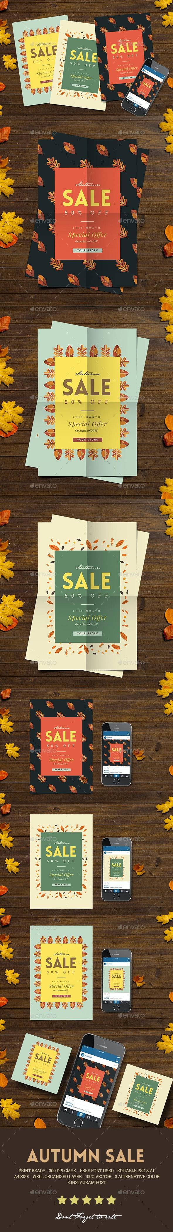 Autumn Sale Flyer + Instagram Post - Commerce Flyers