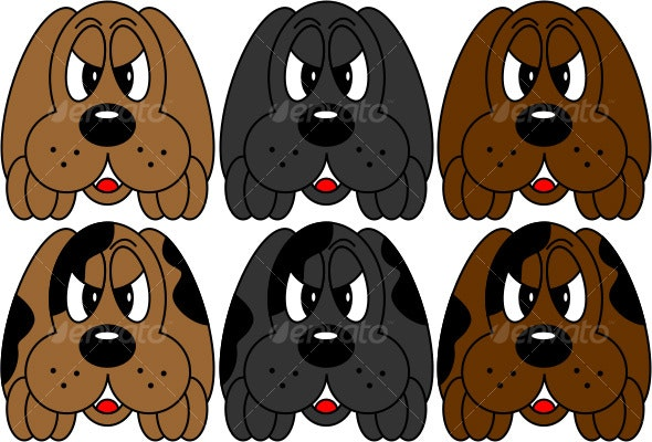 Puppy with Patches - Characters Vectors