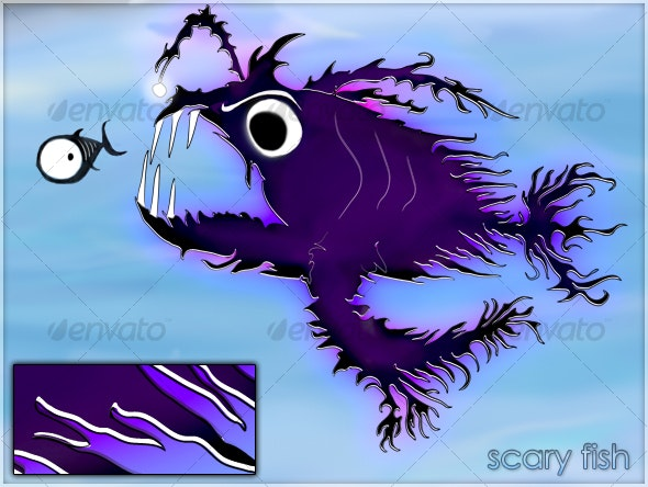 Scary fish - Animals Characters