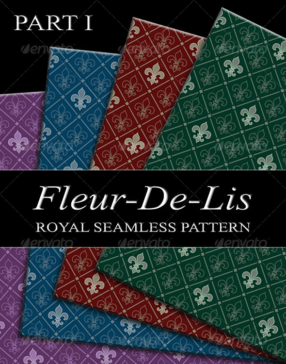fleur-de-lis seamless pattern - Backgrounds Decorative