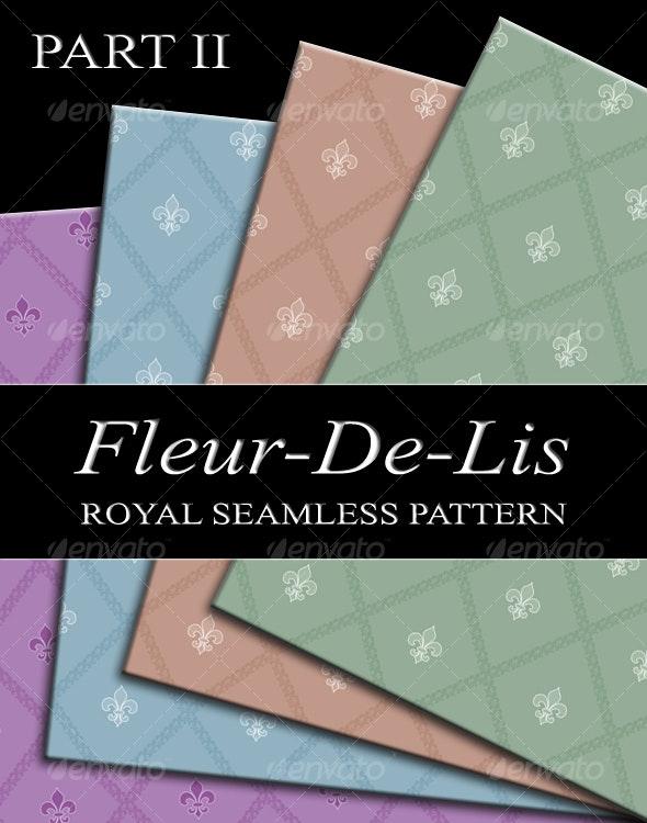 fleur-de-lis seamless pattern - Backgrounds Decorative
