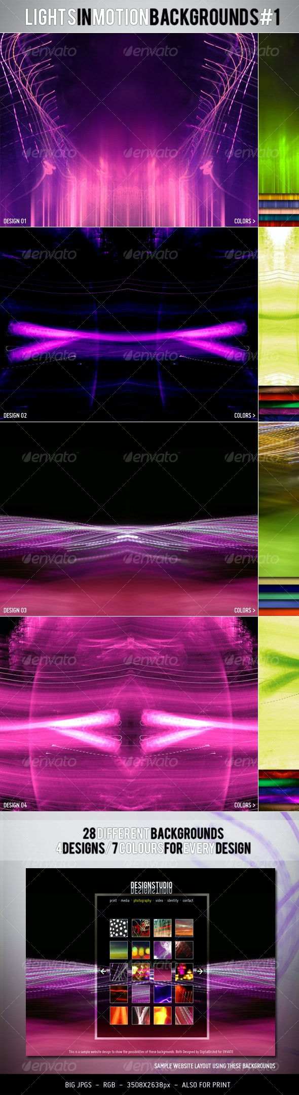 Lights in Motion Backgrounds #1 - Backgrounds Graphics