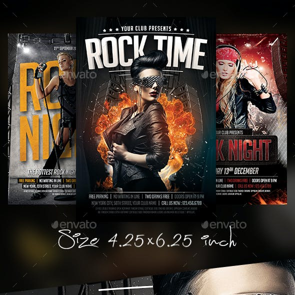 Rock Concert Flyer Bundle
