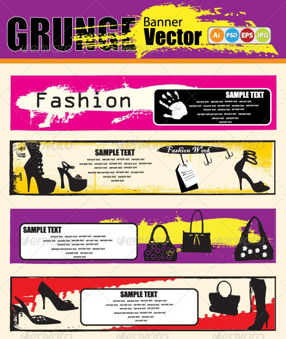 Vector abstract Grunge Banners - Commercial / Shopping Conceptual