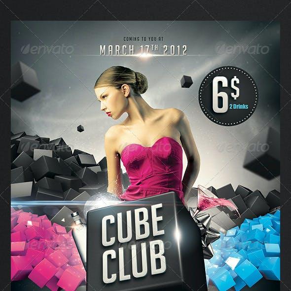 Cube Club Flyer
