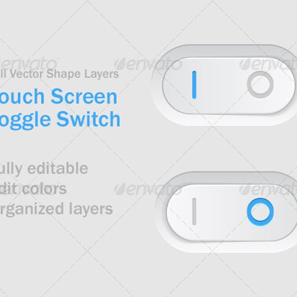 Vector Touch Screen Toggle Switch