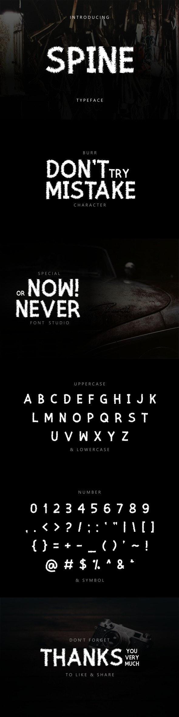 Spine Typeface Font - Sans-Serif Fonts