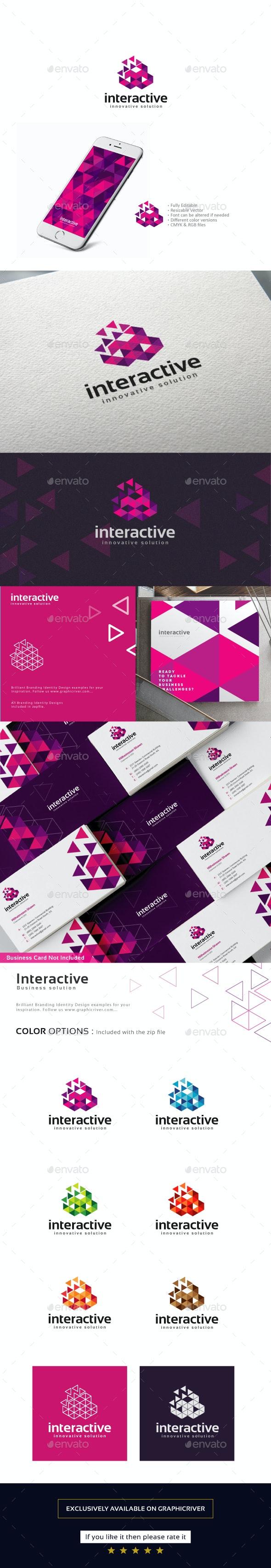Interactive Logo - Abstract Logo Templates