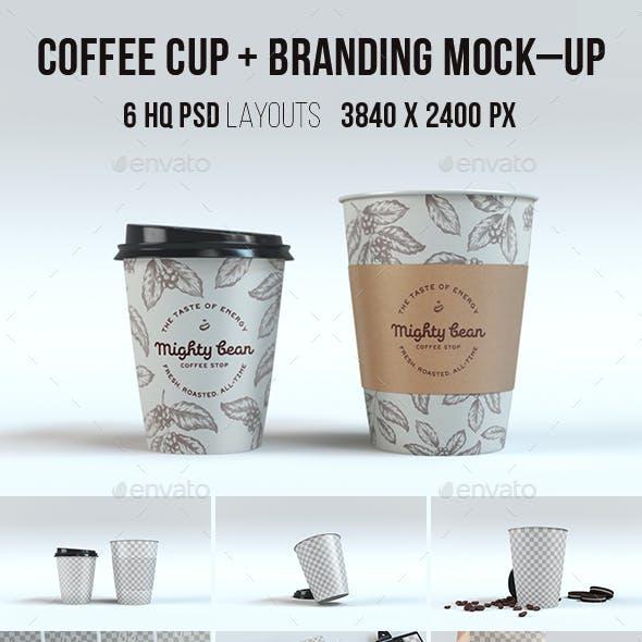 Coffee Cup & Branding Mock-up