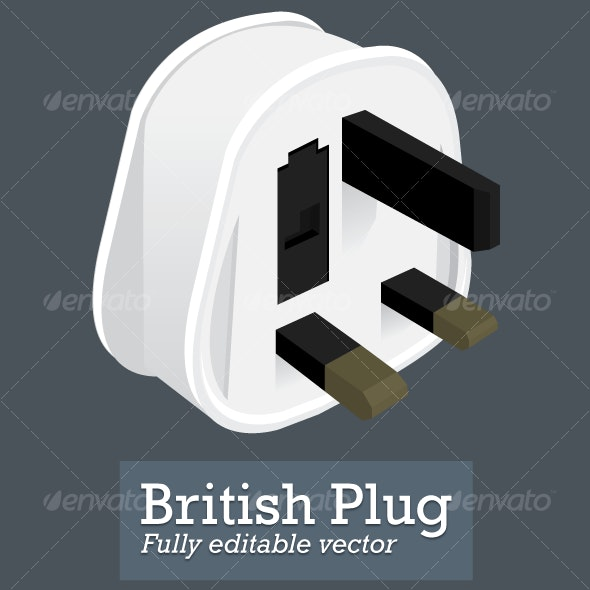 British Plug - Man-made Objects Objects