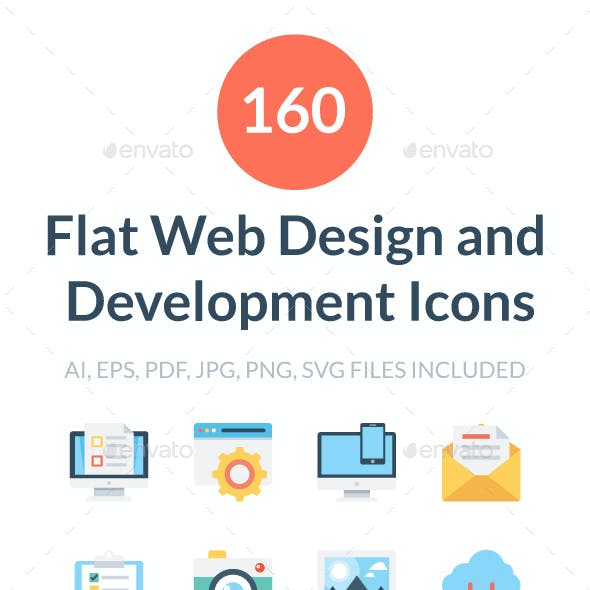 Flat Web Design and Development Icon