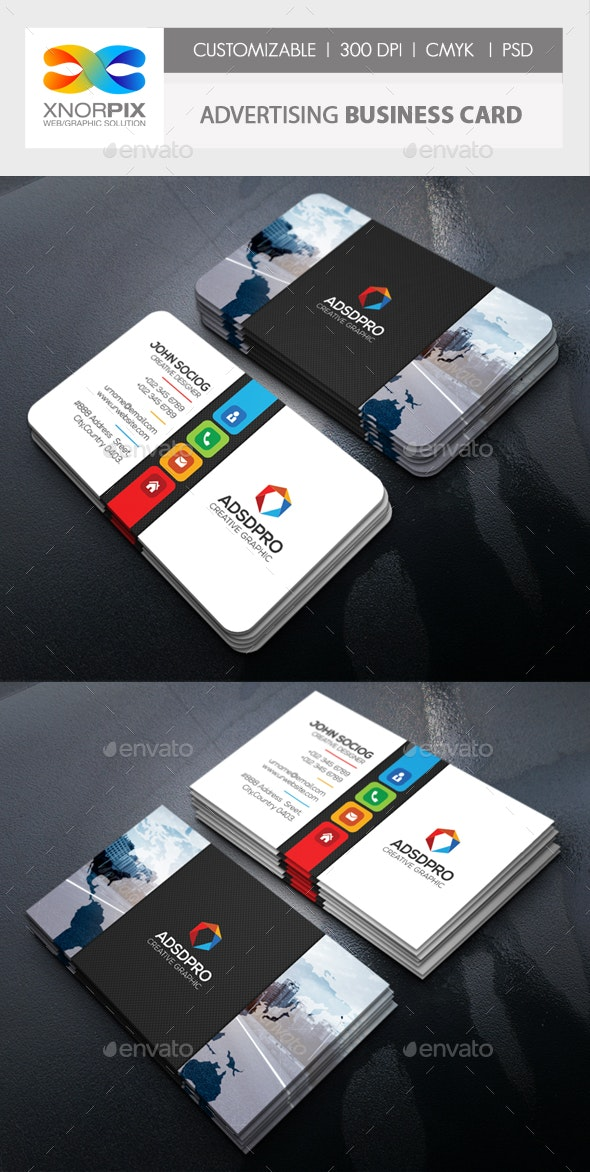 Advertising Business Card - Corporate Business Cards