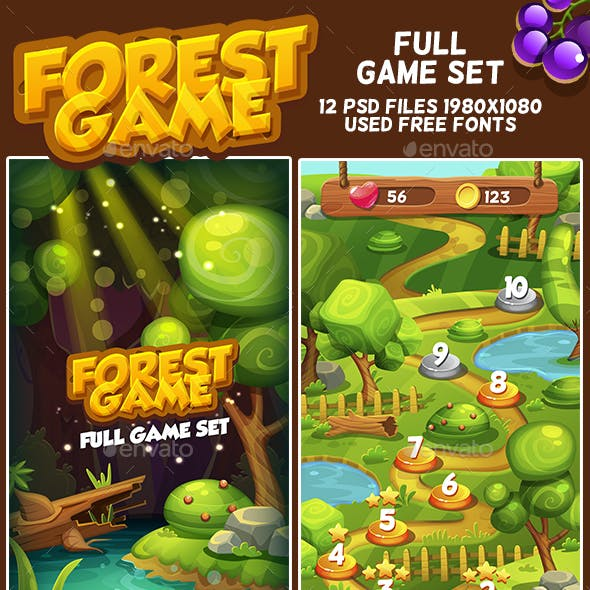 Forest Cartoon Full Game Set with GUI