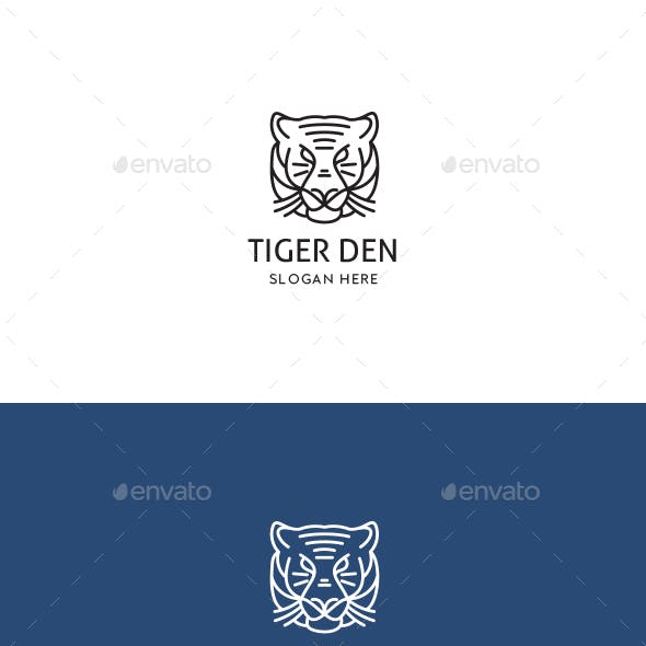 Tiger Den Logo Template