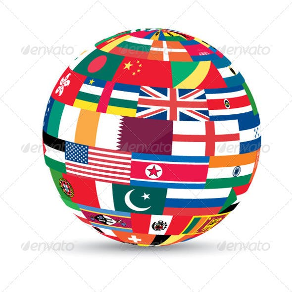 3D Flag World