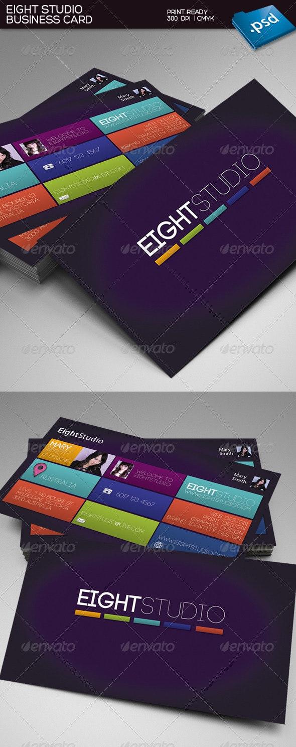 Eight Studio Business Card - Creative Business Cards