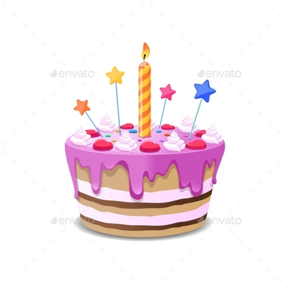 Birthday Cake Vector - Food Objects