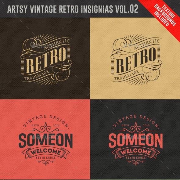 Artsy Vintage Retro Insignia and Logos Vol.02