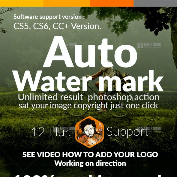 Water Mark Photoshop Action