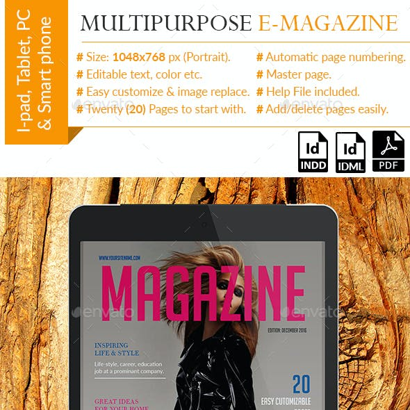 Multipurpose E-magazine