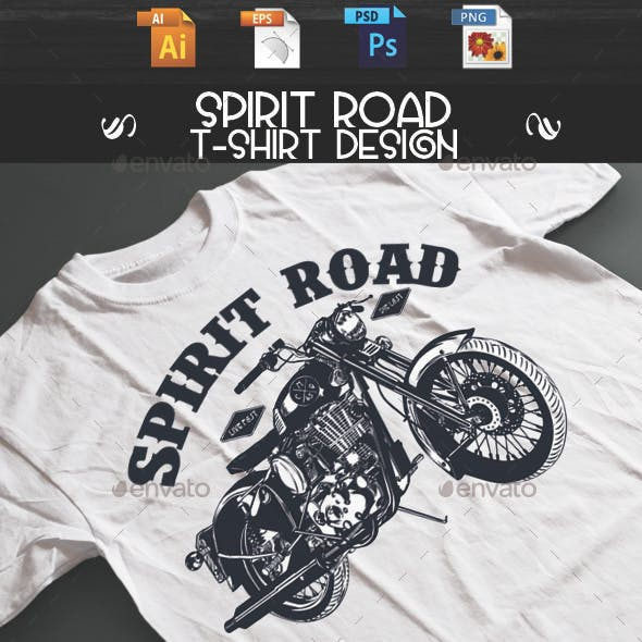 Spirit Road T-shirt design