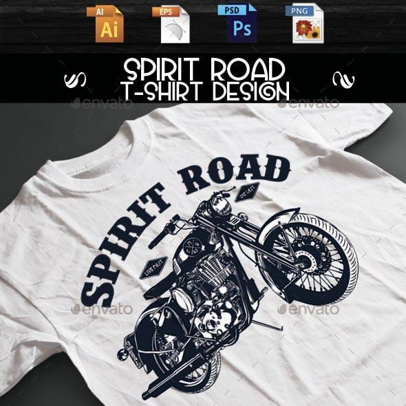 Spirit Road T-shirt design