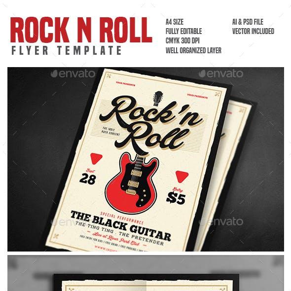 Rock n Roll Music Flyer