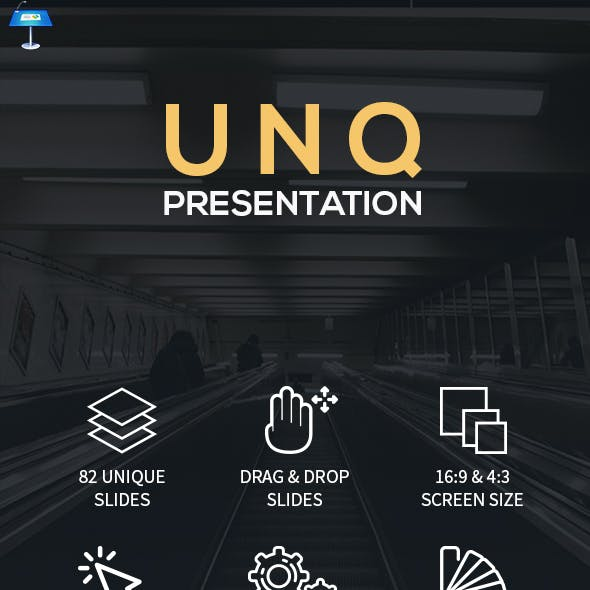 UNQ - Clean Creative Keynote Template