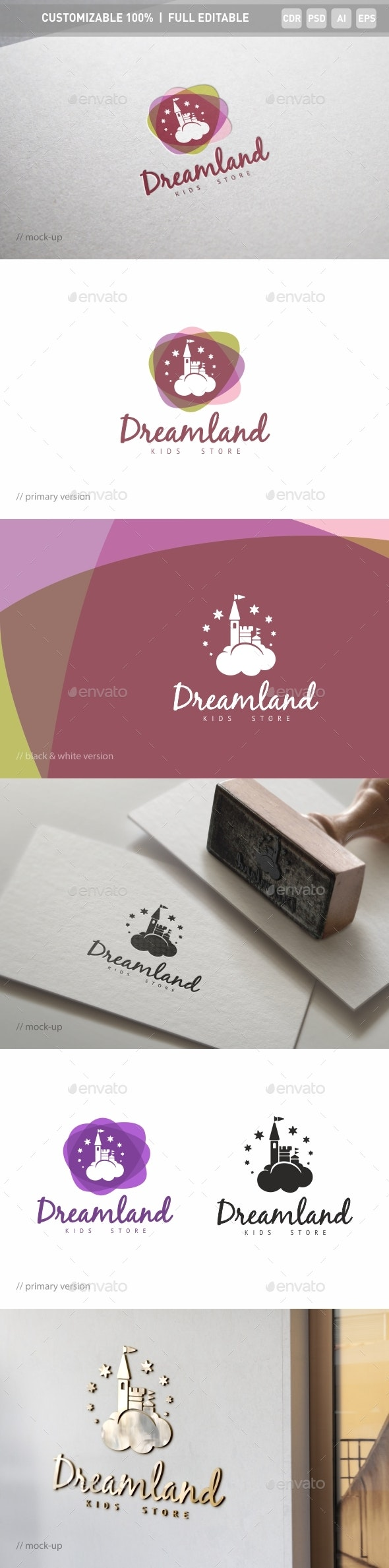 Fairyland Logo Template - Objects Logo Templates
