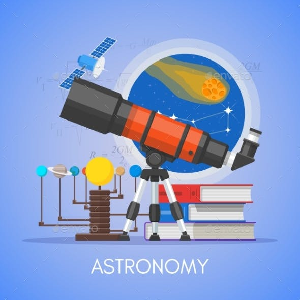 Astronomy Science Education Concept Vector Poster