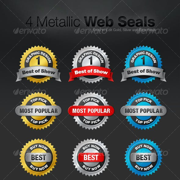 4 Metallic Web Seals