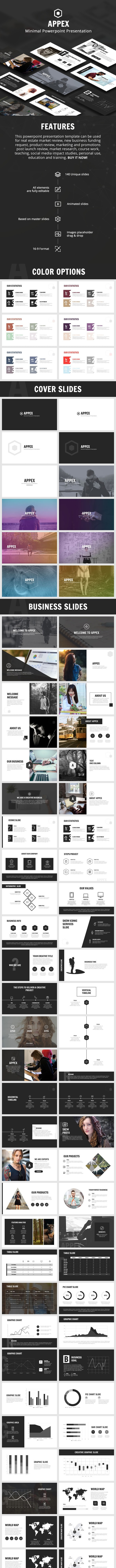 Appex Minimal Powerpoint - V.2 - Business PowerPoint Templates