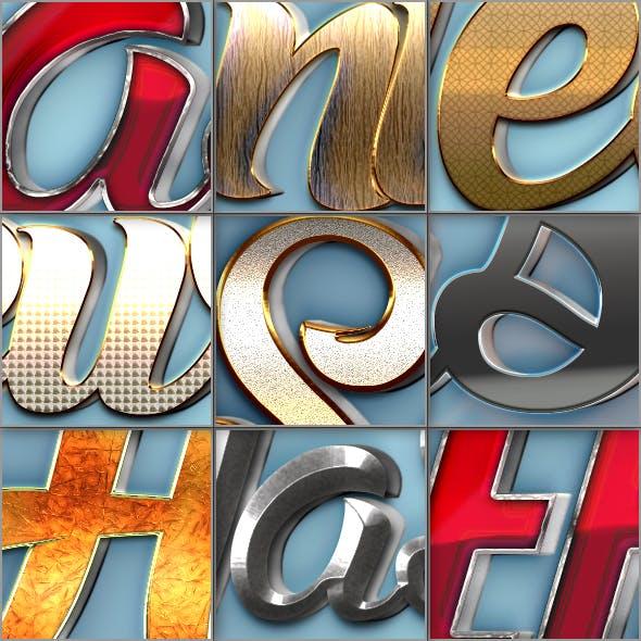 3D Text Styles V05-08-16