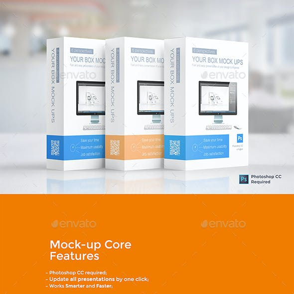 Multipurpose Product Box Mockups