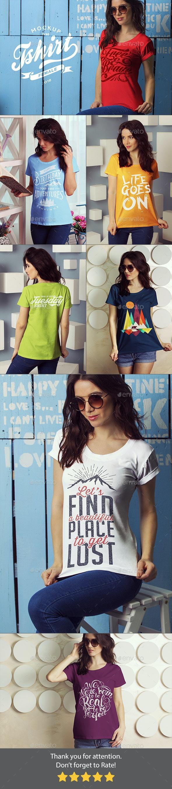 T-Shirt Mock-up - T-shirts Apparel