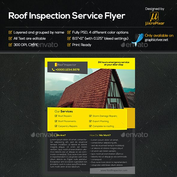 Roof Inspection Service Flyer
