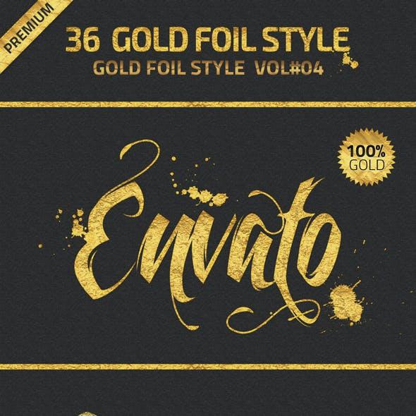 36 Gold Foil Styles Vol.4